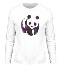 Мужской лонгслив Космическая панда