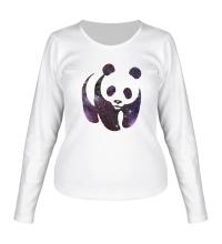 Женский лонгслив Космическая панда