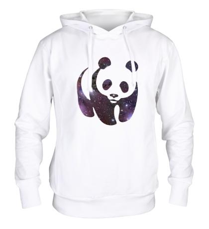 Толстовка с капюшоном Космическая панда