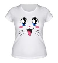 Женская футболка Японская кошечка