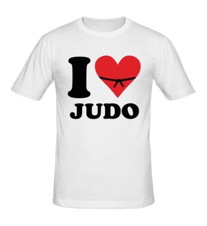 Мужская футболка I love Judo