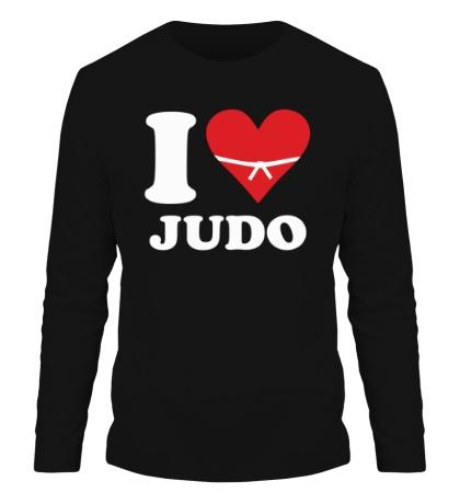 Мужской лонгслив I love Judo