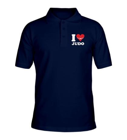 Рубашка поло I love Judo