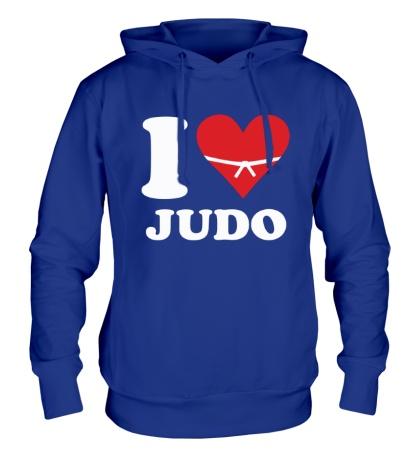 Толстовка с капюшоном I love Judo
