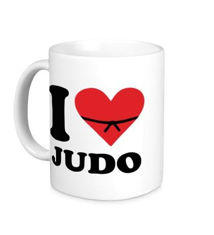 Керамическая кружка I love Judo