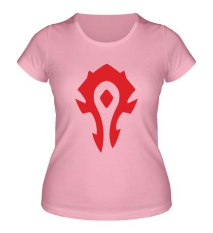 Женская футболка Horde Symbol