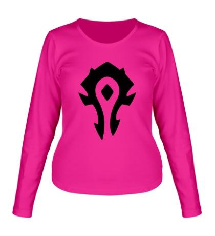 Женский лонгслив Horde Symbol