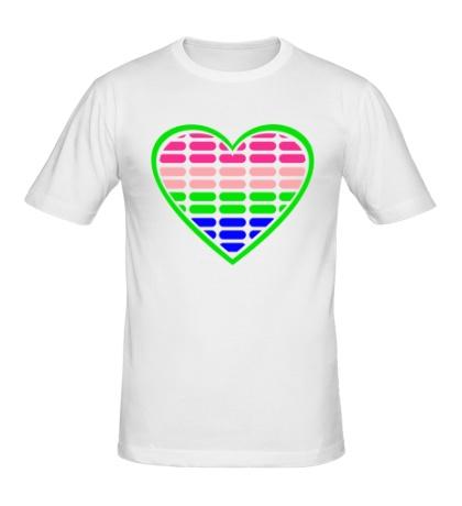 Мужская футболка Эквалайзер в сердце