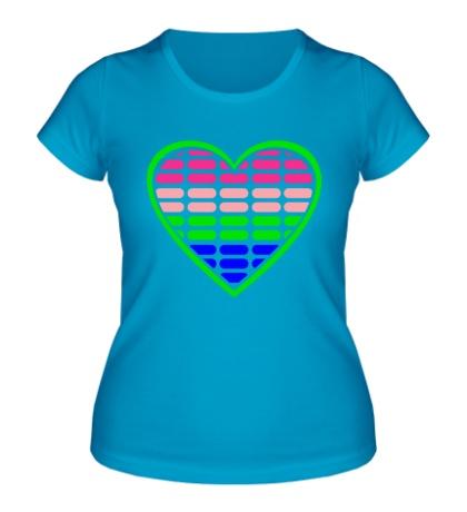 Женская футболка Эквалайзер в сердце