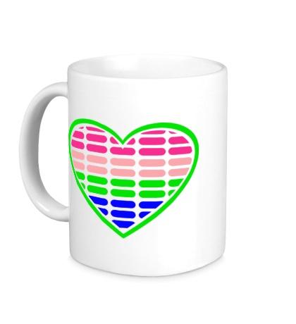 Керамическая кружка Эквалайзер в сердце