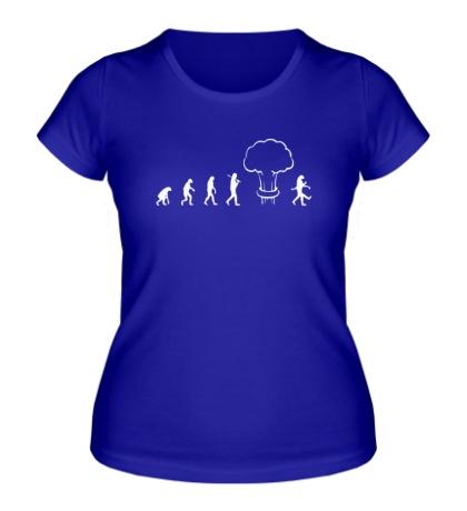 Женская футболка Эволюция после взрыва