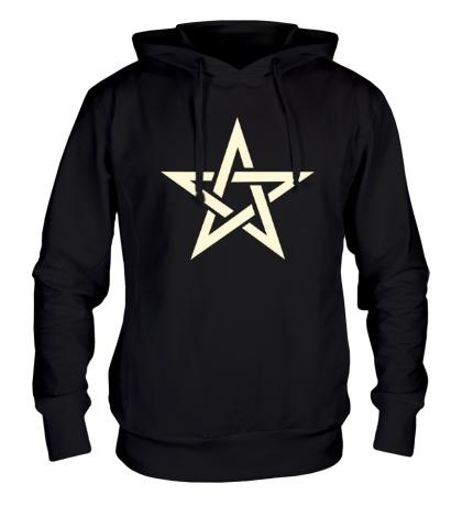 Толстовка с капюшоном Сияющая звезда