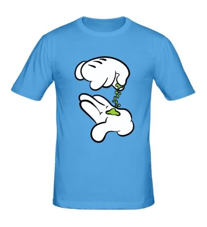 Мужская футболка Hands Cartoon