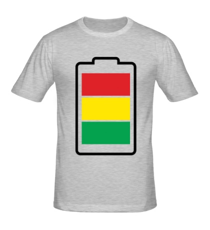 Мужская футболка «Раста-батарейка»