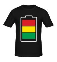 Мужская футболка Раста-батарейка