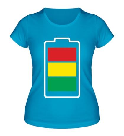 Женская футболка «Раста-батарейка»
