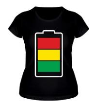 Женская футболка Раста-батарейка
