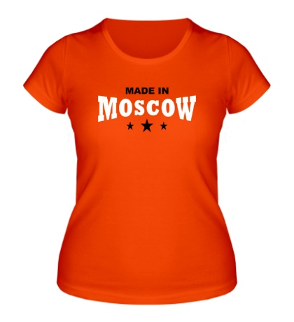 Женская футболка Moscow made in