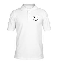 Рубашка поло Подмигивающий смайлик
