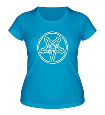 Женская футболка Адская пентаграмма