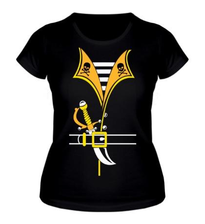 Женская футболка Костюм пирата