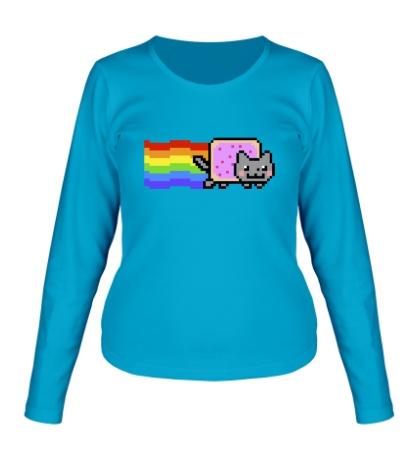 Женский лонгслив Nyan Cat