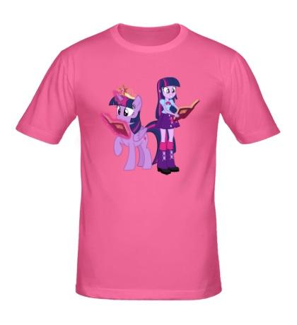 Мужская футболка Twilight Sparkle and Twilight Sparkle