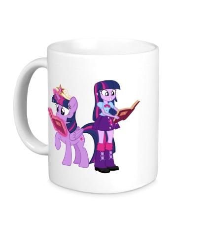 Керамическая кружка Twilight Sparkle and Twilight Sparkle