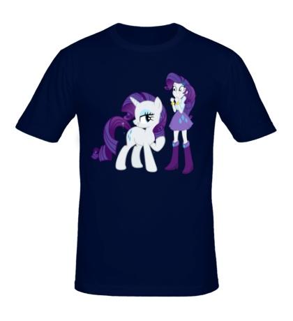 Мужская футболка Rarity and Rarity