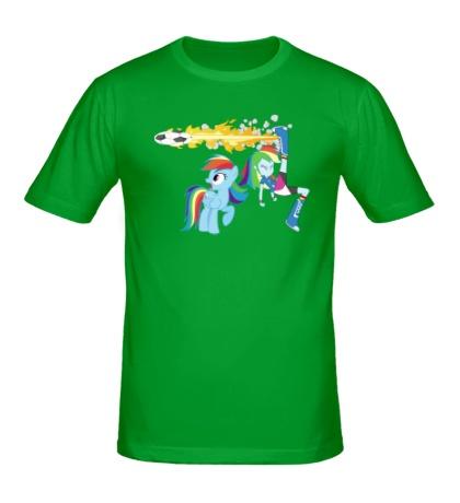 Мужская футболка Rainbow Dash Football