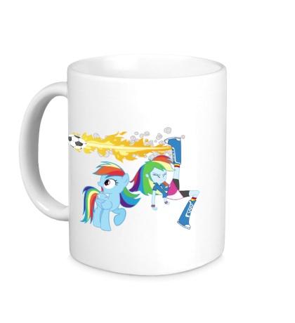 Керамическая кружка Rainbow Dash Football