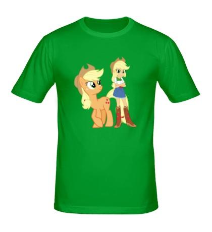 Мужская футболка Applejack and Applejack