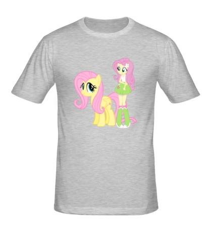 Мужская футболка Fluttershy and Fluttershy