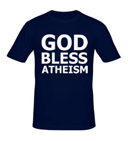Мужская футболка God bless atheism