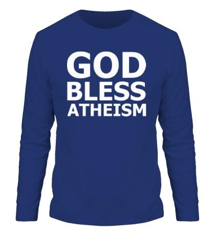 Мужской лонгслив God bless atheism