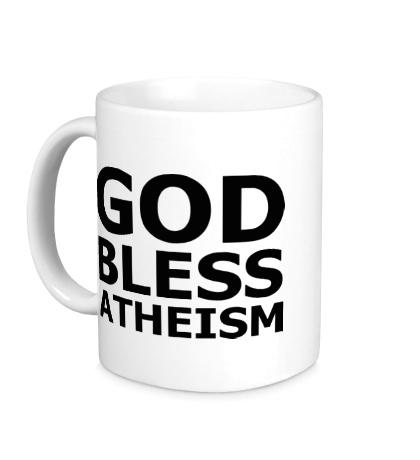 Керамическая кружка God bless atheism