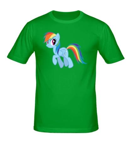 Мужская футболка Rainbow Dash