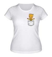 Женская футболка Грот в кармане