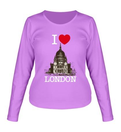Женский лонгслив I love London