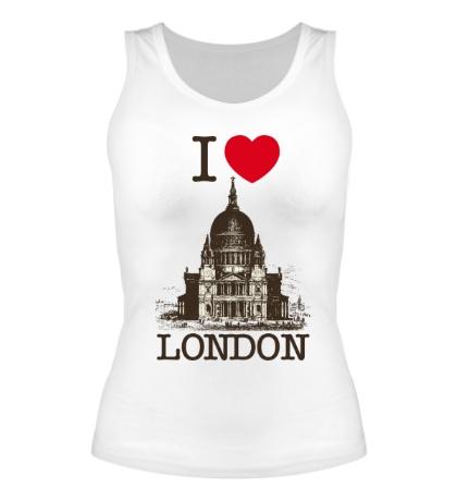 Женская майка I love London
