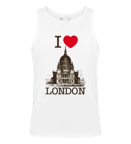 Мужская майка I love London