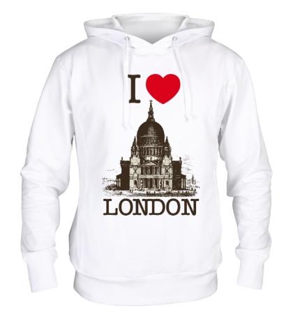 Толстовка с капюшоном I love London