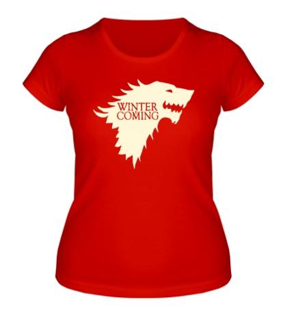 Женская футболка Winter is Coming, Glow