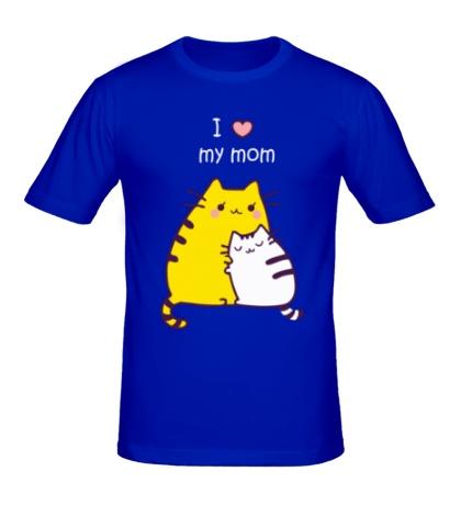 Мужская футболка I love my mom