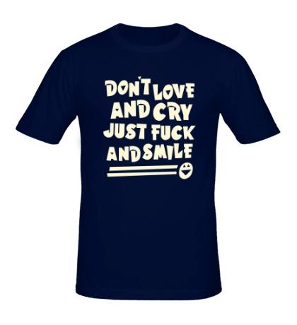 Мужская футболка Dont love and cry