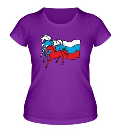 Женская футболка Сильная Россия