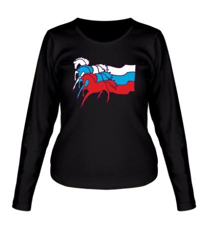 Женский лонгслив Сильная Россия