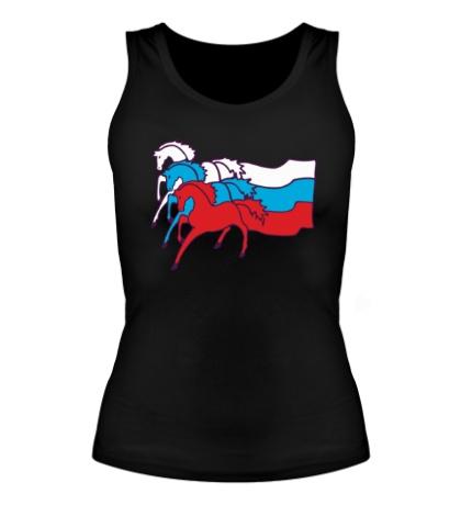 Женская майка Сильная Россия