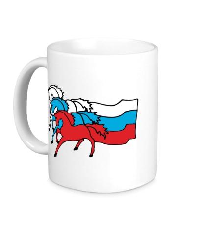 Керамическая кружка Сильная Россия