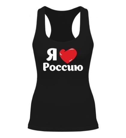 Женская борцовка Я люблю Россию